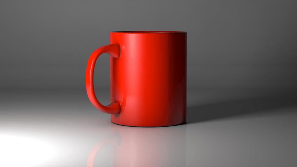 taza, cafe, 3d, renderizada, render